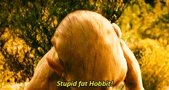 """""""Stupid, fat hobbit!""""  """"What's taters, precious, what's taters?"""" << Gollum is the best"""