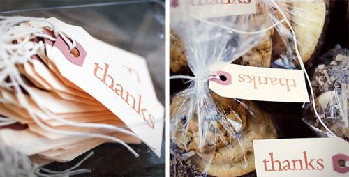 Homemade Cookie Favors