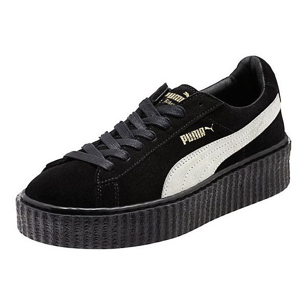 PUMA BY RIHANNA CREEPER ($120) ❤ liked on Polyvore featuring shoes, punk rock shoes, punk platform shoes, long shoes, cat footwear and platform lace up shoes