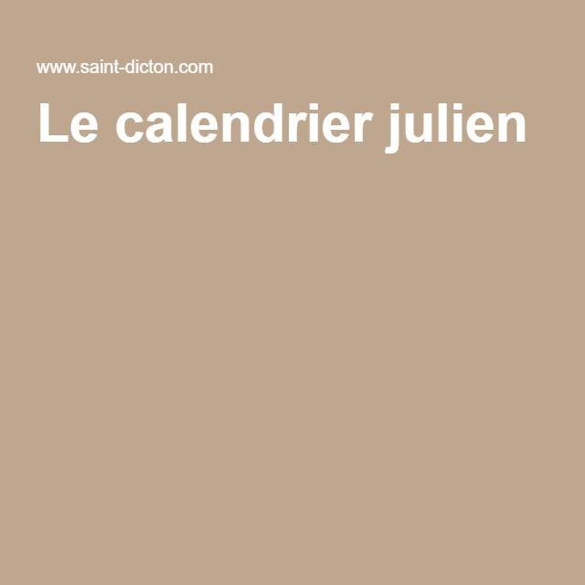 Le calendrier julien