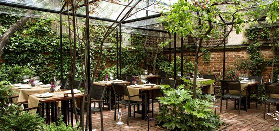 Jardín del restaurante Iroco, Madrid