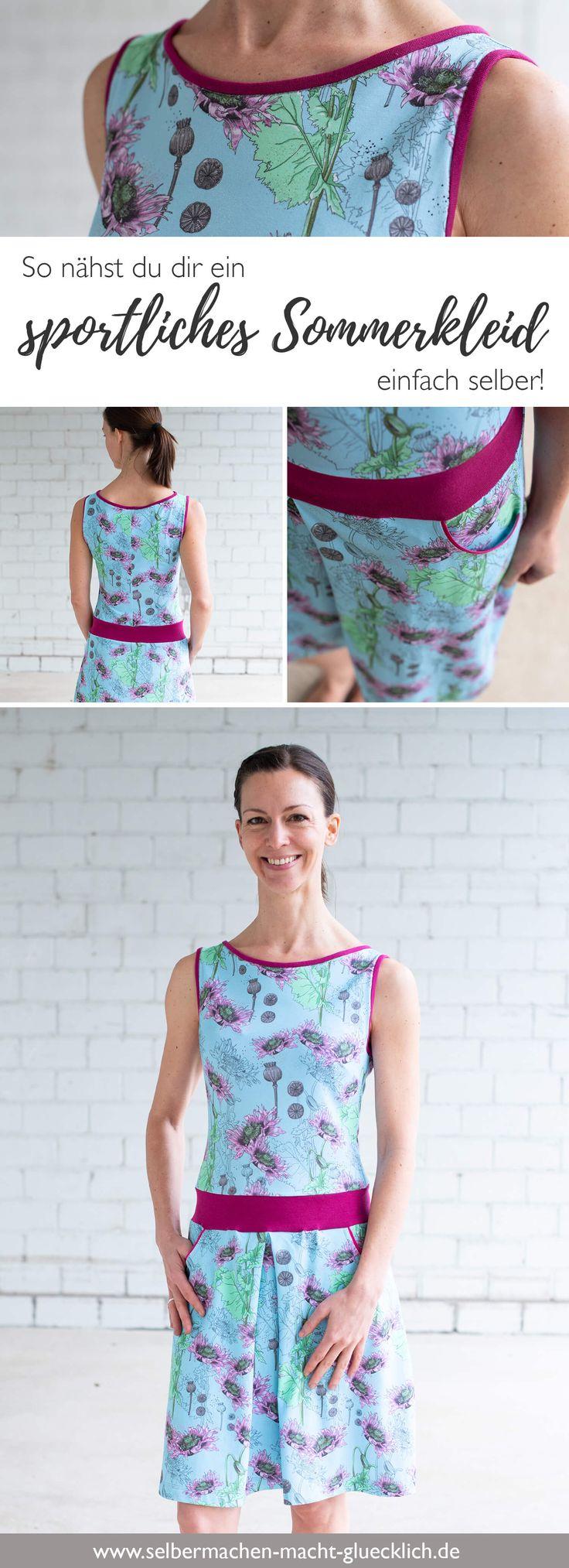 So nähst du ein sportliches Sommerkleid! – Selbermachen macht glücklich