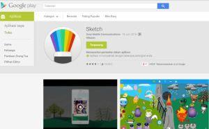 Aplikasi Android Sketch dari Sony Mobile Communications tersedia di goole play