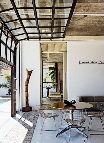 I want my studio to have glass garage doors