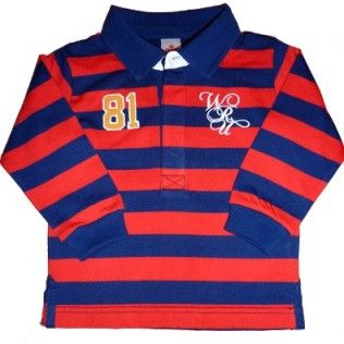 Wales WRU Classic Baby/Toddler Rugby Shirt - Navy/Red. 3-23 months £14.99