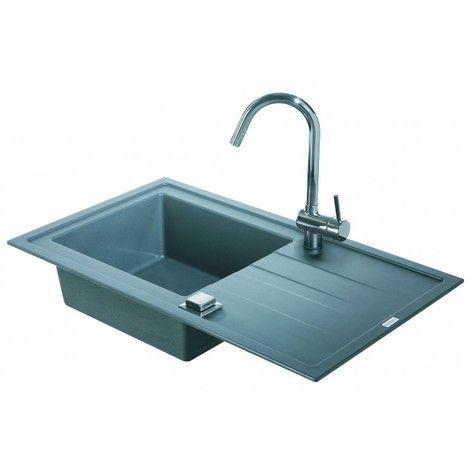 Evier à encastrer ARCOS 1 cuve - Couleur - Gris béton - 3512342830278 - Plomberie sanitaire chauffage