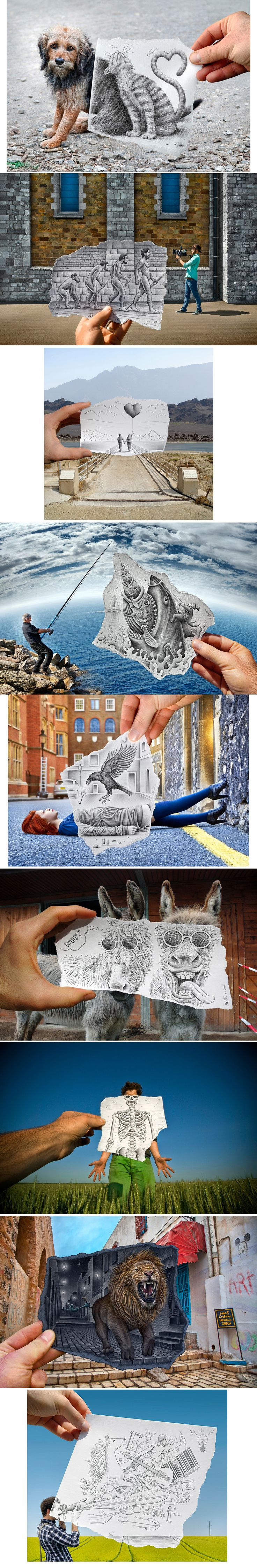 Photography and Drawing Combined- Ben Heine