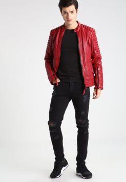 Tigha - CLARK - Lederjacke - brick red