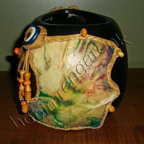 Deri İle Çömlek Kaplama-pottery and leather lining
