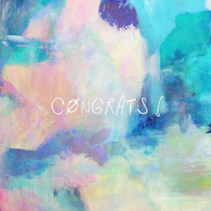 "Annie Everingham ""CONGRATS"" card.  Available in store."