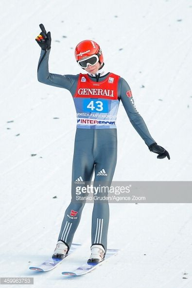 Andreas Wellinger of Germany during the FIS Ski Jumping World Cup Vierschanzentournee on January 01 2014 in GarmischPartenkirchen Germany