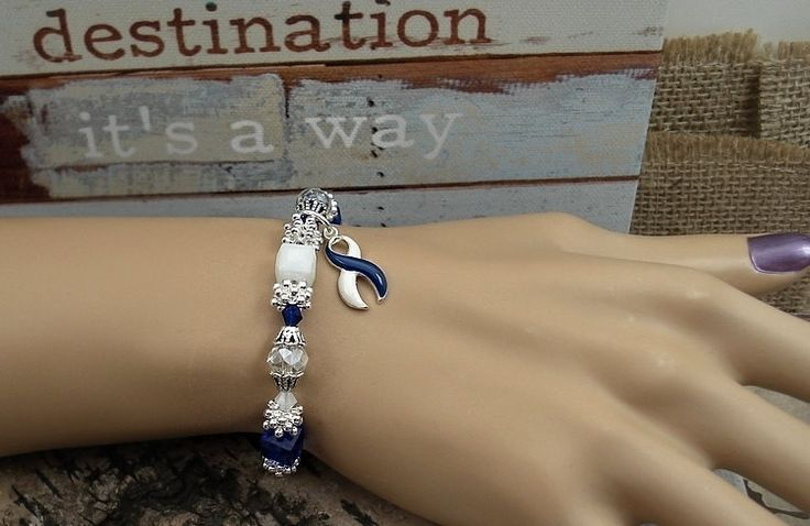 BLW-4 ALS Awareness Jewelry / ALS Bracelet / Als Awareness Beaded Bracelet Awareness Jewelry of Support Lou Gehrig's Disease