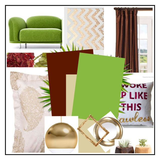 """""""Inspired by Autumn"""" by kata-koppany on Polyvore featuring interior, interiors, interior design, home, home decor, interior decorating, Pottery Barn, Moooi, Crate and Barrel and Tom Dixon"""