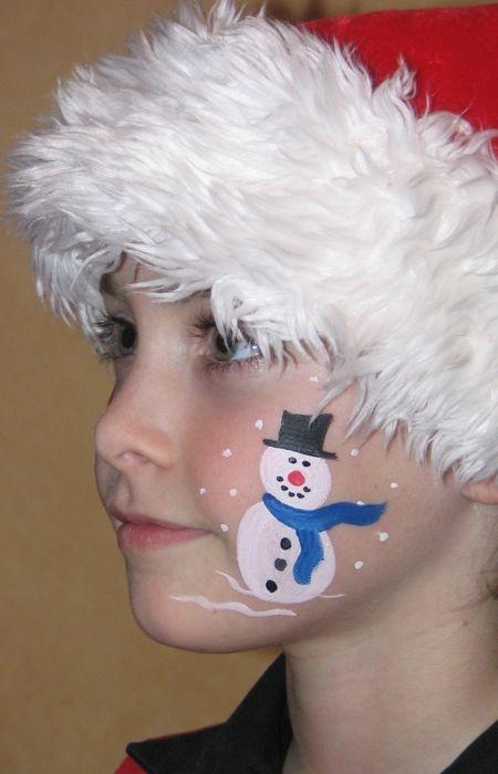 Maquillage enfant bonhomme de neige