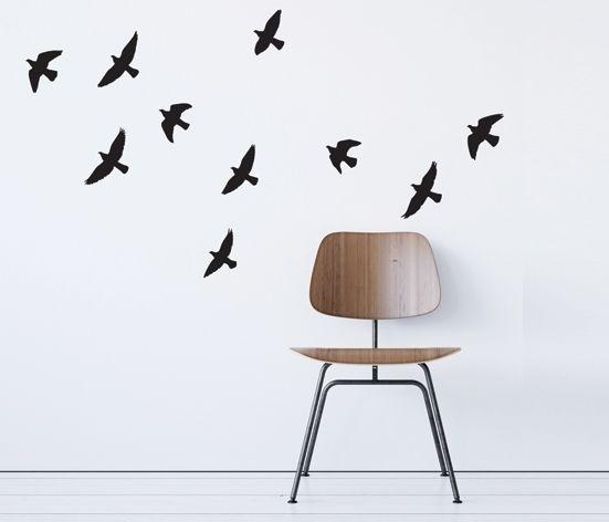 VÄGGDEKOR fåglar i luften
