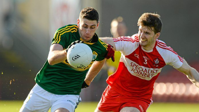 Paul Geaney (Kerry) in action v Derry in the Allianz Football League in February 2015