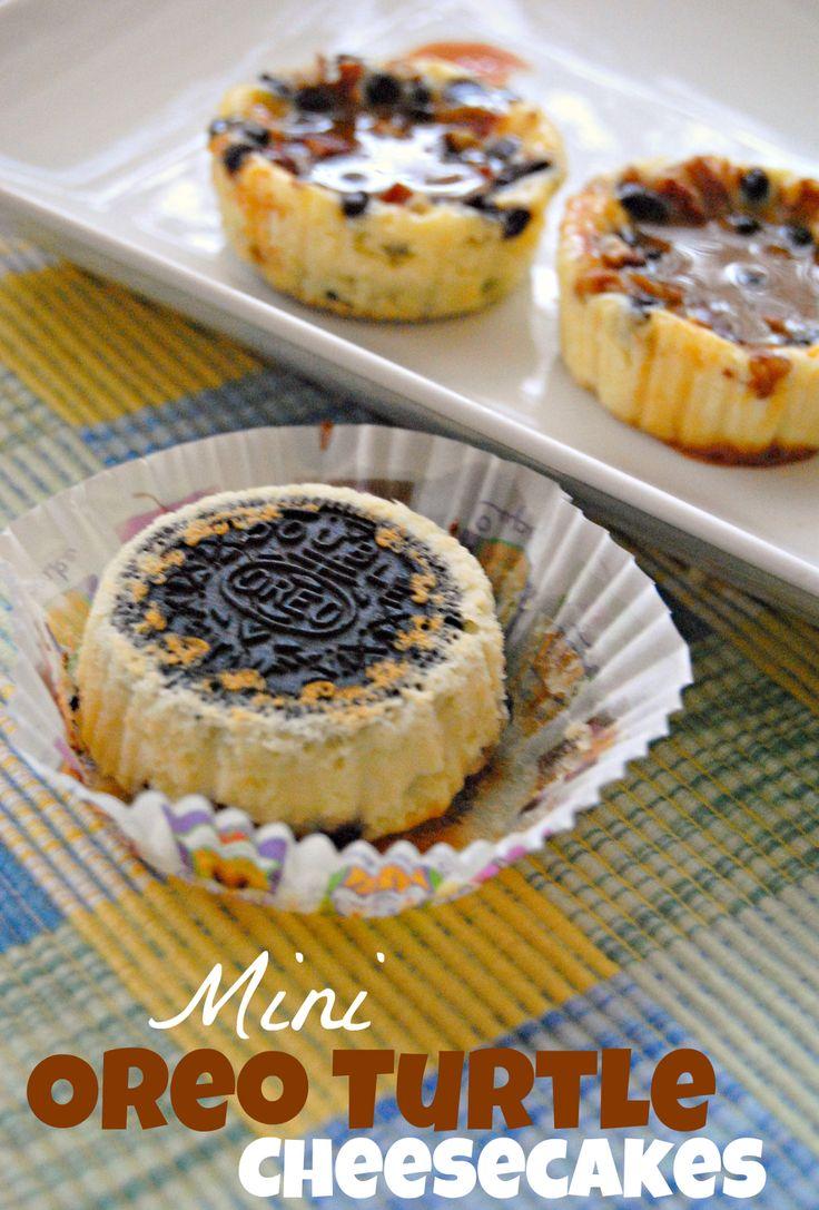 Mini Oreo Turtle Cheesecakes: Minis Oreo, Cooking Challenges, Oreo Turtles, Turtles Cheesecake, Cheesecake Crazy, Cookies Recipes, Turtle Cheesecake, Oreo Minis Cookies, Crazy Cooking