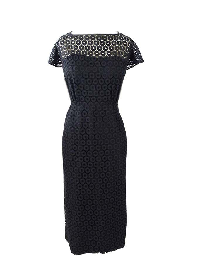 Black dress 1950s vs today