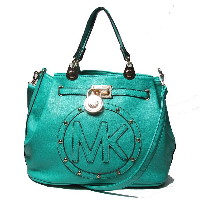 Cheap Michael Kors Large Logo Medium Green Totes Clearance