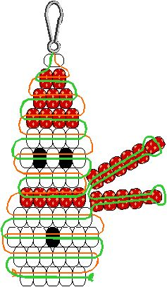I hope to make these this weekend with my troop too! A pattern to make a snowman out of pony beads and lanyard.