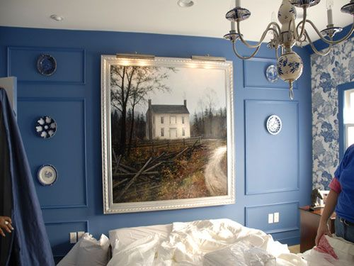 Love this blue.  And that painting!