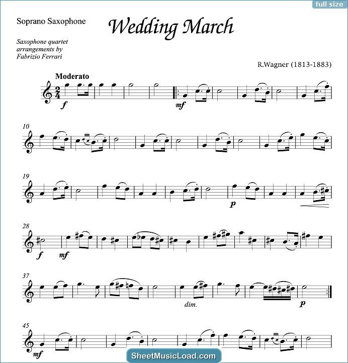 Wedding Collection Sheet Music For Saxophone Quartet By Various Bridal Chorus Lohengrin Adagio Adagio In G Minor Air Sheet Music Sheet Music Notes Music
