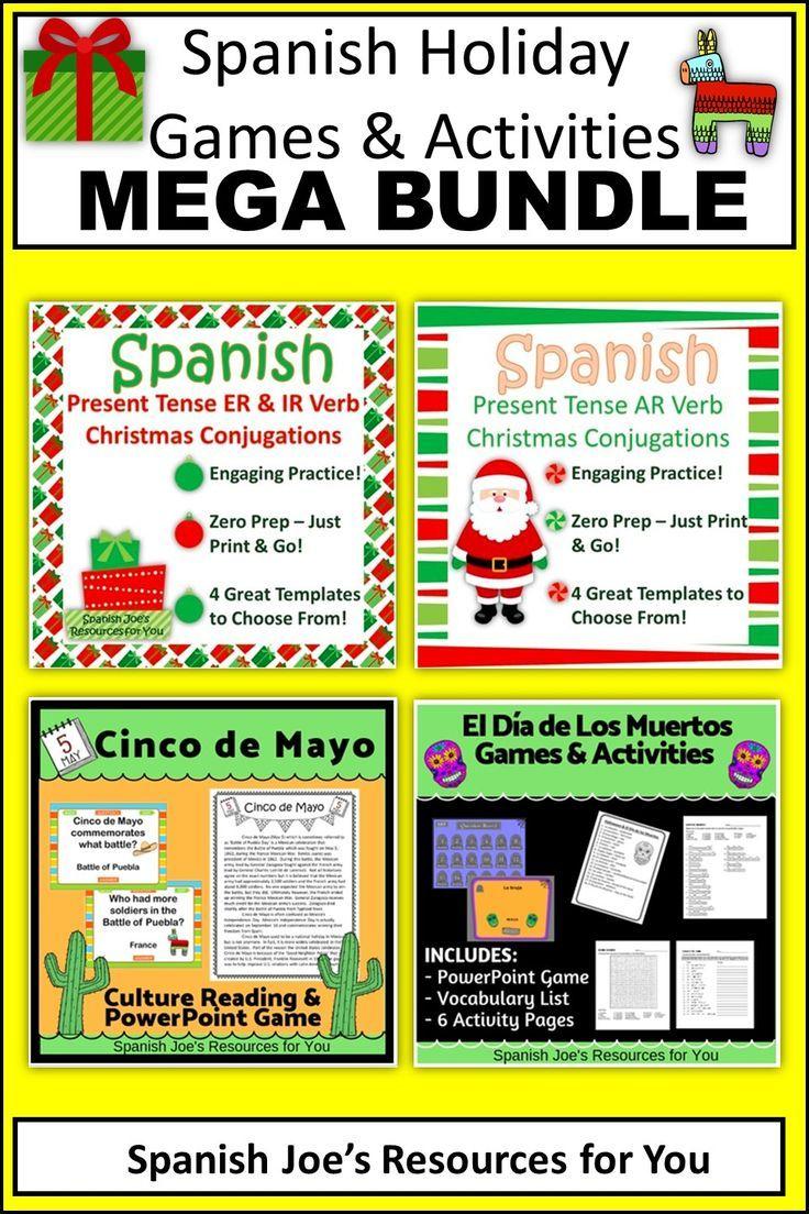 Spanish Holiday Games Activities Mega Bundle Activity Games Activities Get To Know You Activities