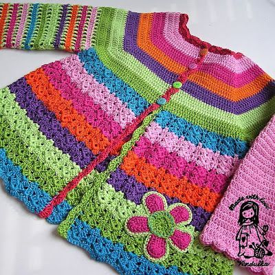 Crochet Girls Coat Free Patterns