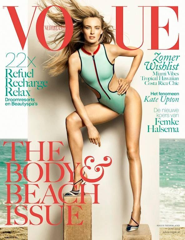 Juninummer Vogue Nederland. Vogue is naar mijn idee niet zomaar een modeblad. De fotografie is erg hoogstand en artistiek. Het zouden vaak kunstwerken op zich kunnen zijn. Daarnaast staan er ook vaak goede achtergrondartikelen in, over mode in relatie tot cultuur, kunst of de maatschappij.