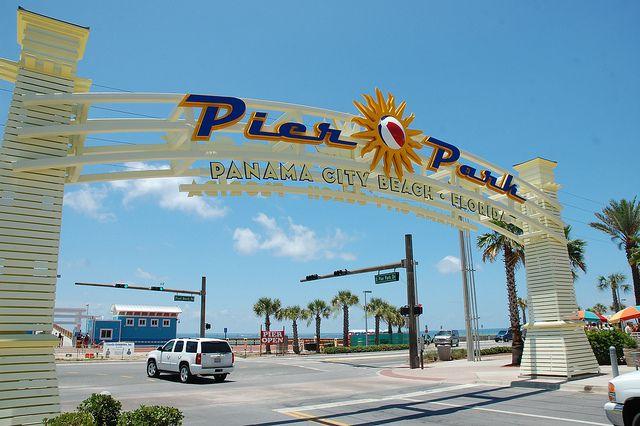 Panama City Beach, Florida.  The location of Isabelle's famous dislocated knee.  A night we will never forget.