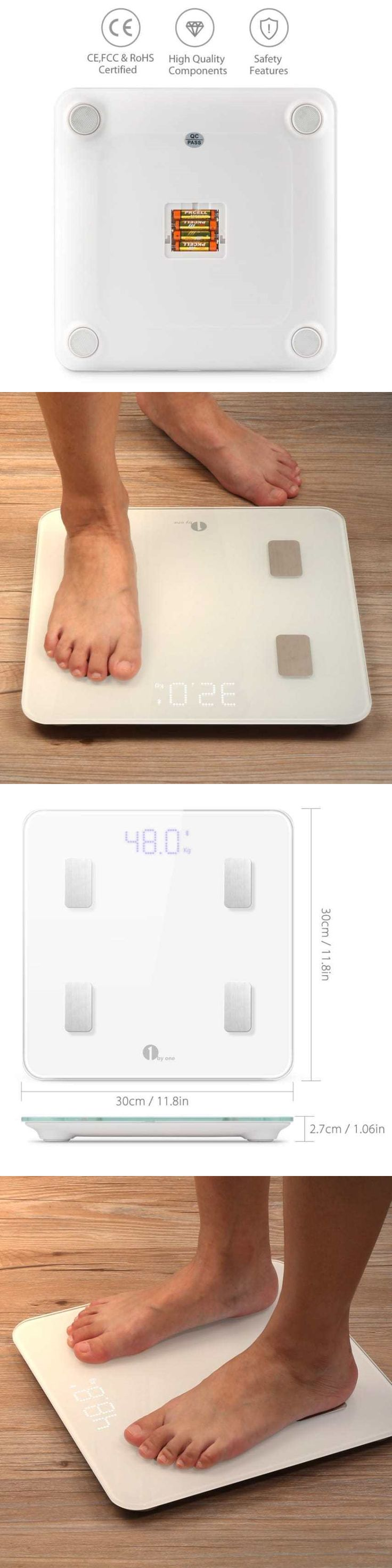 Scales: 1Byone Digital Smart Scale Body Scale Bathroom Scale Wireless Body Fat Scale Wit BUY IT NOW ONLY: $44.64