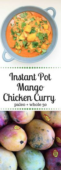 Instant Pot Mango Chicken Curry   Paleo | Whole 30 | Gluten-Free   #Paleo #whole30 #glutenfree #instantpot  www.frompastatopaleo.com