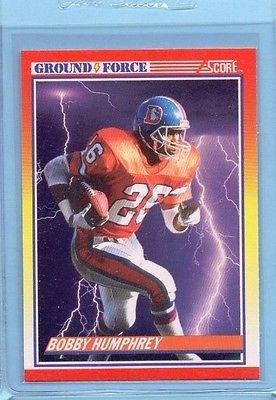 1990 Score Bobby Humphrey #324 Ground Force Denver Broncos Original INV024