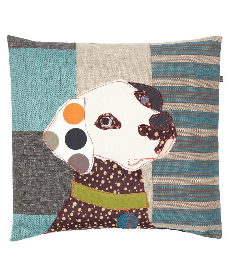 Bonnie The Dalmatian Patchwork Cushion | Carola Van Dyke | Liberty London