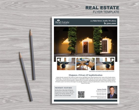 Best Design  Real Estate Images On   Flyer Design