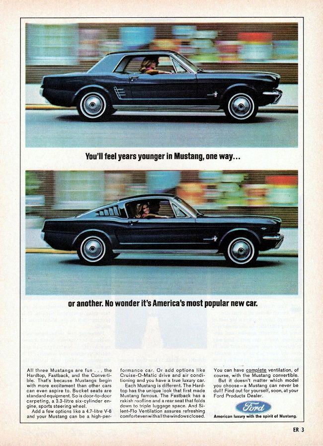 Vintage Mustang Ad Mustangvintagecars Ford Mustang Vintage Mustang 1966 Ford Mustang