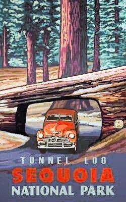 Sequoia National Park #vintagetravelposters