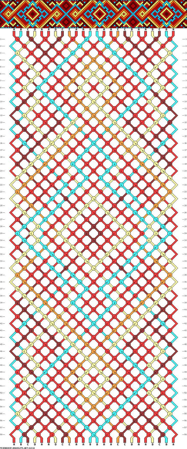 24 strings, 5 colors, 58 rows