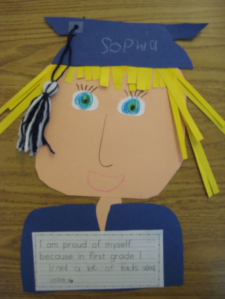 "So cute for the end of the year!  ""I am proud of myself because in first grade I..."""