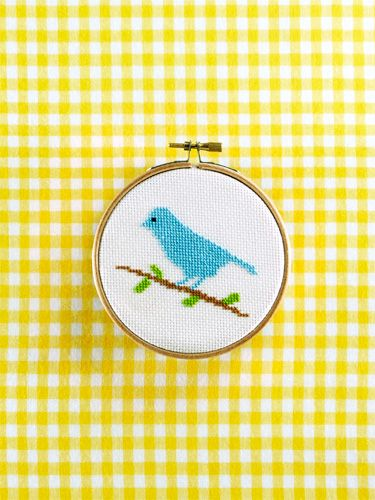Download the free cross-stitch bird pattern from Country Living's March 2015 issue.