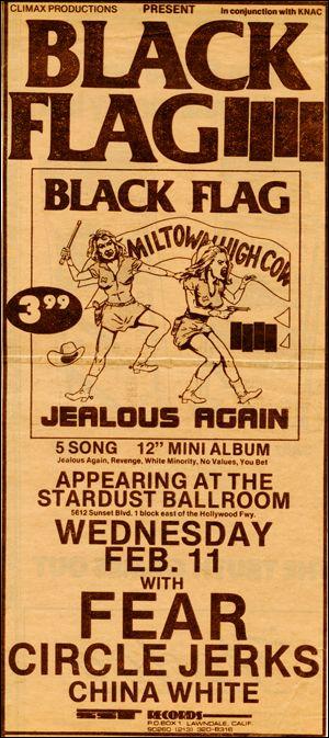 [Black Flag at the Stardust Ballroom [Jealous Again] / Wednesday Feb. 11]