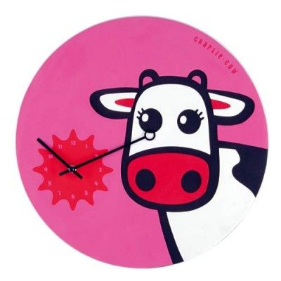 Zegar dziecięcy Charlie Cow - NEXTIME - DECO Salon. Perfect clock for a little girl ;) #clock #giftidea #dladzieci #naprezent