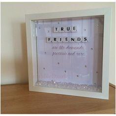 True Friend Scrabble Art Frame by ScrabbleDazzle on Etsy