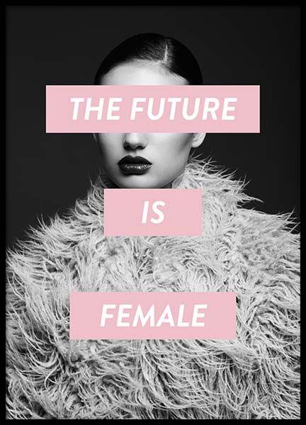 Future is female Poster in der Gruppe Poster / Größen und Formate / 50x70cm bei Desenio AB (8834)