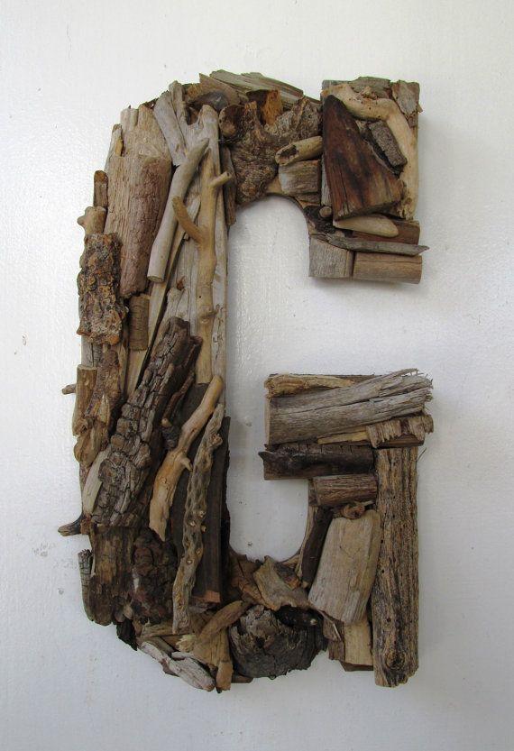 Les 25 meilleures id es de la cat gorie grandes lettres en for Magasin bois flotte