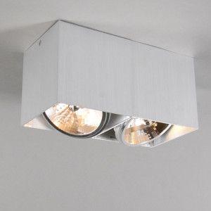 Spot Box 2 aluminium - Woonkamerverlichting - Verlichting per ruimte - Lampenlicht.be