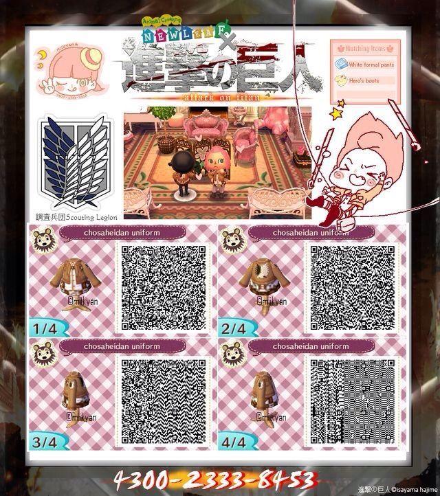 Animal Crossing Anime Qr