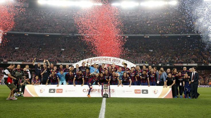 Cup celebrations #FCBarcelona #Copa #CampionsFCB #FansFCB