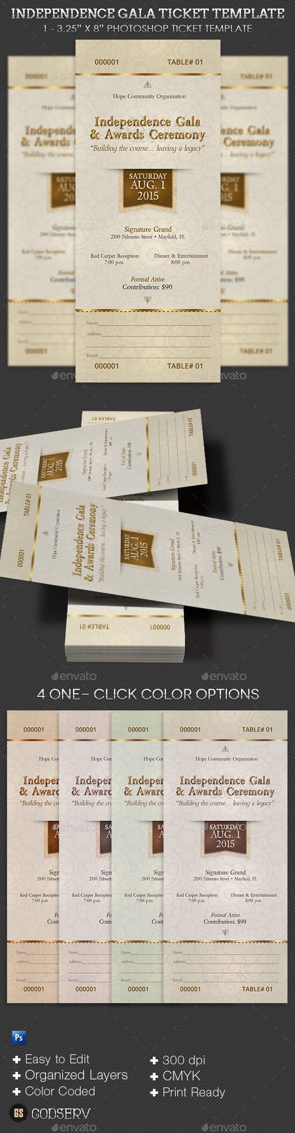 Independence Gala Ticket Template 14 best Church
