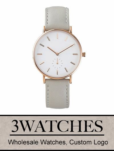 Thehorse Wholesale Watches. Custom Logo. Rose Gold / Grey Leather. Visiting: http://www.3watches.com/horse-watch/